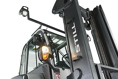 Electric forklifts are perfectly suited for outdoor use.