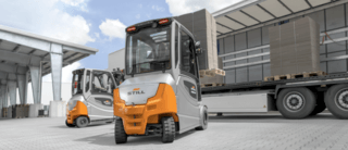 Outdoor electric front forklift truck