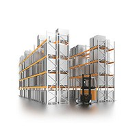 Pallet rack (wide aisle)
